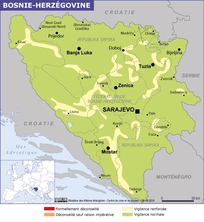Croatie Carte Identite.Aller En Bosnie Herzegovine Formalites Et Precautions La France
