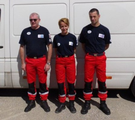 Photo : pompiers de l'urgence internationale (D.R.) - JPEG